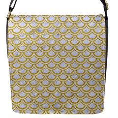 SCALES2 WHITE MARBLE & YELLOW DENIM (R) Flap Messenger Bag (S)