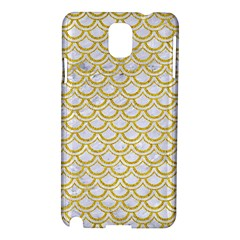SCALES2 WHITE MARBLE & YELLOW DENIM (R) Samsung Galaxy Note 3 N9005 Hardshell Case
