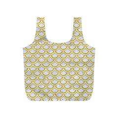 SCALES2 WHITE MARBLE & YELLOW DENIM (R) Full Print Recycle Bags (S)