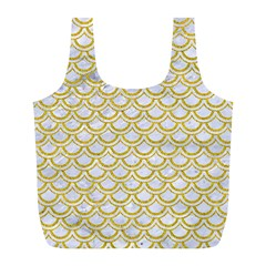 SCALES2 WHITE MARBLE & YELLOW DENIM (R) Full Print Recycle Bags (L)