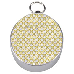 SCALES2 WHITE MARBLE & YELLOW DENIM (R) Silver Compasses