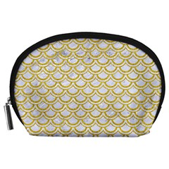 SCALES2 WHITE MARBLE & YELLOW DENIM (R) Accessory Pouches (Large)