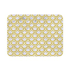 SCALES2 WHITE MARBLE & YELLOW DENIM (R) Double Sided Flano Blanket (Mini)