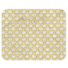 SCALES2 WHITE MARBLE & YELLOW DENIM (R) Double Sided Flano Blanket (Medium)