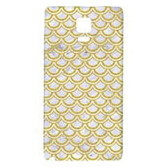 SCALES2 WHITE MARBLE & YELLOW DENIM (R) Galaxy Note 4 Back Case