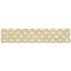 SCALES2 WHITE MARBLE & YELLOW DENIM (R) Small Flano Scarf