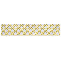 SCALES2 WHITE MARBLE & YELLOW DENIM (R) Large Flano Scarf