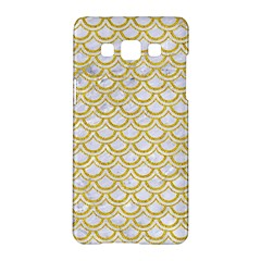 SCALES2 WHITE MARBLE & YELLOW DENIM (R) Samsung Galaxy A5 Hardshell Case