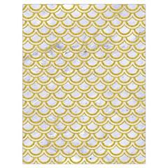 SCALES2 WHITE MARBLE & YELLOW DENIM (R) Drawstring Bag (Large)