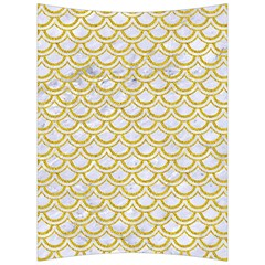 SCALES2 WHITE MARBLE & YELLOW DENIM (R) Back Support Cushion