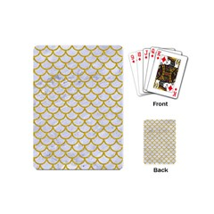 Scales1 White Marble & Yellow Denim (r) Playing Cards (mini)  by trendistuff