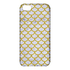 Scales1 White Marble & Yellow Denim (r) Apple Iphone 5c Hardshell Case by trendistuff