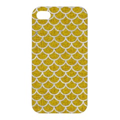 Scales1 White Marble & Yellow Denim Apple Iphone 4/4s Hardshell Case by trendistuff