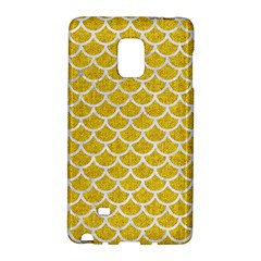 Scales1 White Marble & Yellow Denim Galaxy Note Edge by trendistuff