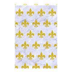Royal1 White Marble & Yellow Denim Shower Curtain 48  X 72  (small)  by trendistuff