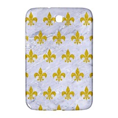 Royal1 White Marble & Yellow Denim Samsung Galaxy Note 8 0 N5100 Hardshell Case  by trendistuff