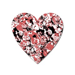 Textured Floral Collage Heart Magnet by dflcprints