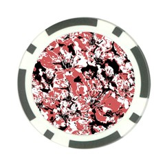 Textured Floral Collage Poker Chip Card Guard by dflcprints