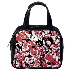 Textured Floral Collage Classic Handbags (one Side) by dflcprints
