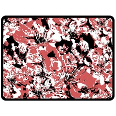 Textured Floral Collage Double Sided Fleece Blanket (large)