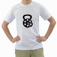 Pizza Kettlebell Men s T Shirt (white) (two Sided) by amfit