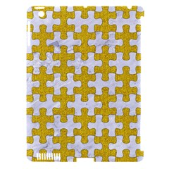 Puzzle1 White Marble & Yellow Denim Apple Ipad 3/4 Hardshell Case (compatible With Smart Cover) by trendistuff