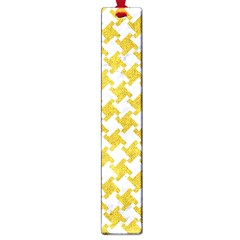 Houndstooth2 White Marble & Yellow Denim Large Book Marks by trendistuff