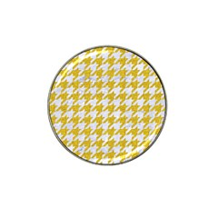Houndstooth1 White Marble & Yellow Denim Hat Clip Ball Marker (10 Pack) by trendistuff