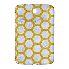Hexagon2 White Marble & Yellow Denim (r) Samsung Galaxy Note 8 0 N5100 Hardshell Case  by trendistuff