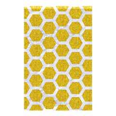 Hexagon2 White Marble & Yellow Denim Shower Curtain 48  X 72  (small)  by trendistuff
