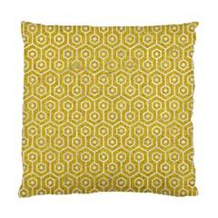 Hexagon1 White Marble & Yellow Denim Standard Cushion Case (one Side) by trendistuff