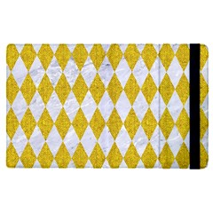 Diamond1 White Marble & Yellow Denim Apple Ipad Pro 9 7   Flip Case by trendistuff