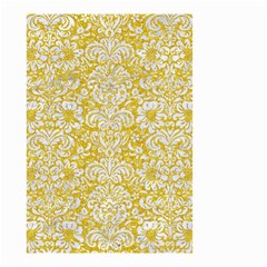 Damask2 White Marble & Yellow Denimhite Marble & Yellow Denim Small Garden Flag (two Sides) by trendistuff