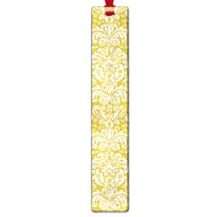 Damask2 White Marble & Yellow Denimhite Marble & Yellow Denim Large Book Marks by trendistuff
