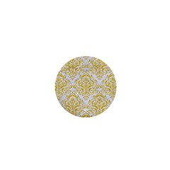 Damask1 White Marble & Yellow Denim (r) 1  Mini Buttons by trendistuff
