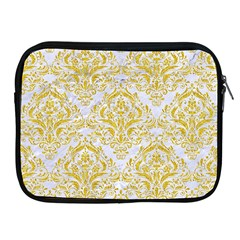 Damask1 White Marble & Yellow Denim (r) Apple Ipad 2/3/4 Zipper Cases by trendistuff