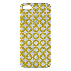 Circles3 White Marble & Yellow Denim (r) Iphone 5s/ Se Premium Hardshell Case by trendistuff