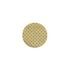 Circles3 White Marble & Yellow Denim 1  Mini Buttons by trendistuff