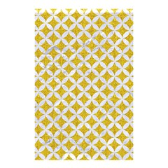 Circles3 White Marble & Yellow Denim Shower Curtain 48  X 72  (small)  by trendistuff