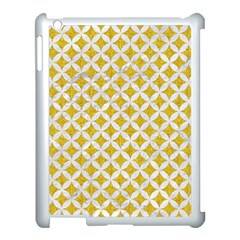 Circles3 White Marble & Yellow Denim Apple Ipad 3/4 Case (white) by trendistuff