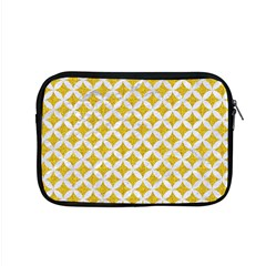Circles3 White Marble & Yellow Denim Apple Macbook Pro 15  Zipper Case