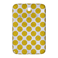 Circles2 White Marble & Yellow Denim (r) Samsung Galaxy Note 8 0 N5100 Hardshell Case  by trendistuff