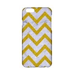 Chevron9 White Marble & Yellow Denim (r) Apple Iphone 6/6s Hardshell Case by trendistuff