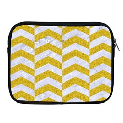 Chevron2 White Marble & Yellow Denim Apple Ipad 2/3/4 Zipper Cases by trendistuff