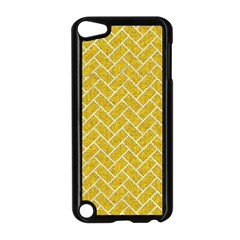 Brick2 White Marble & Yellow Denim Apple Ipod Touch 5 Case (black) by trendistuff