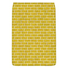 Brick1 White Marble & Yellow Denim Flap Covers (l)  by trendistuff