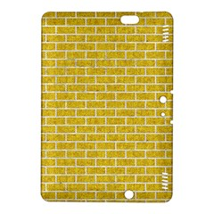 Brick1 White Marble & Yellow Denim Kindle Fire Hdx 8 9  Hardshell Case by trendistuff