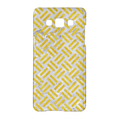 Woven2 White Marble & Yellow Colored Pencil (r) Samsung Galaxy A5 Hardshell Case  by trendistuff