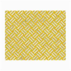 Woven2 White Marble & Yellow Colored Pencil Small Glasses Cloth (2 Side) by trendistuff