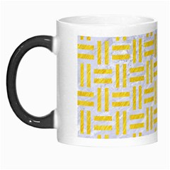Woven1 White Marble & Yellow Colored Pencil (r) Morph Mugs by trendistuff